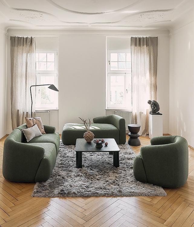 Trend-Sofa in Grün