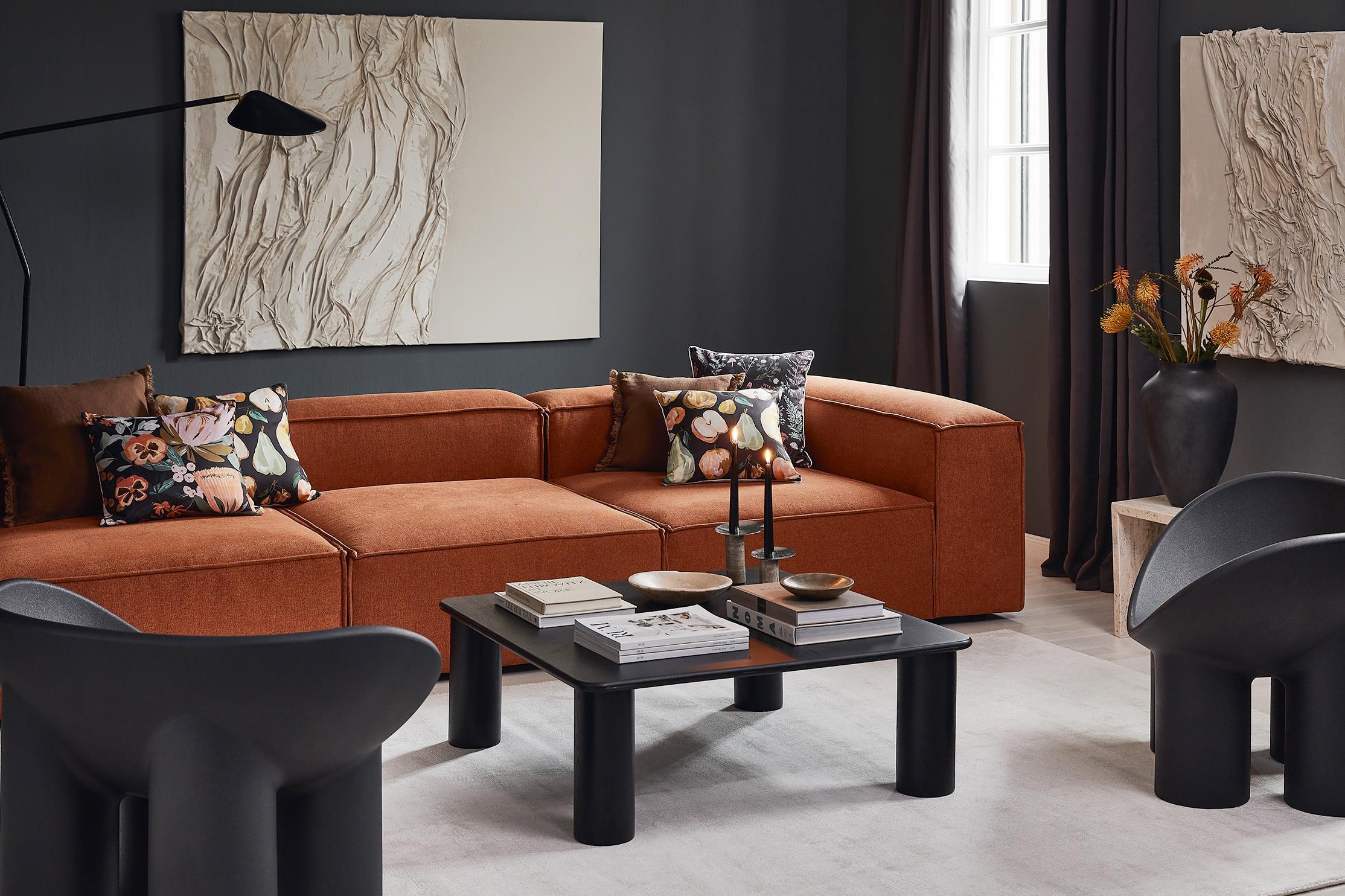 Sofa in Akzentfarbe