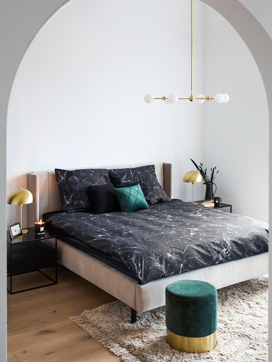 Marmur w sypialni