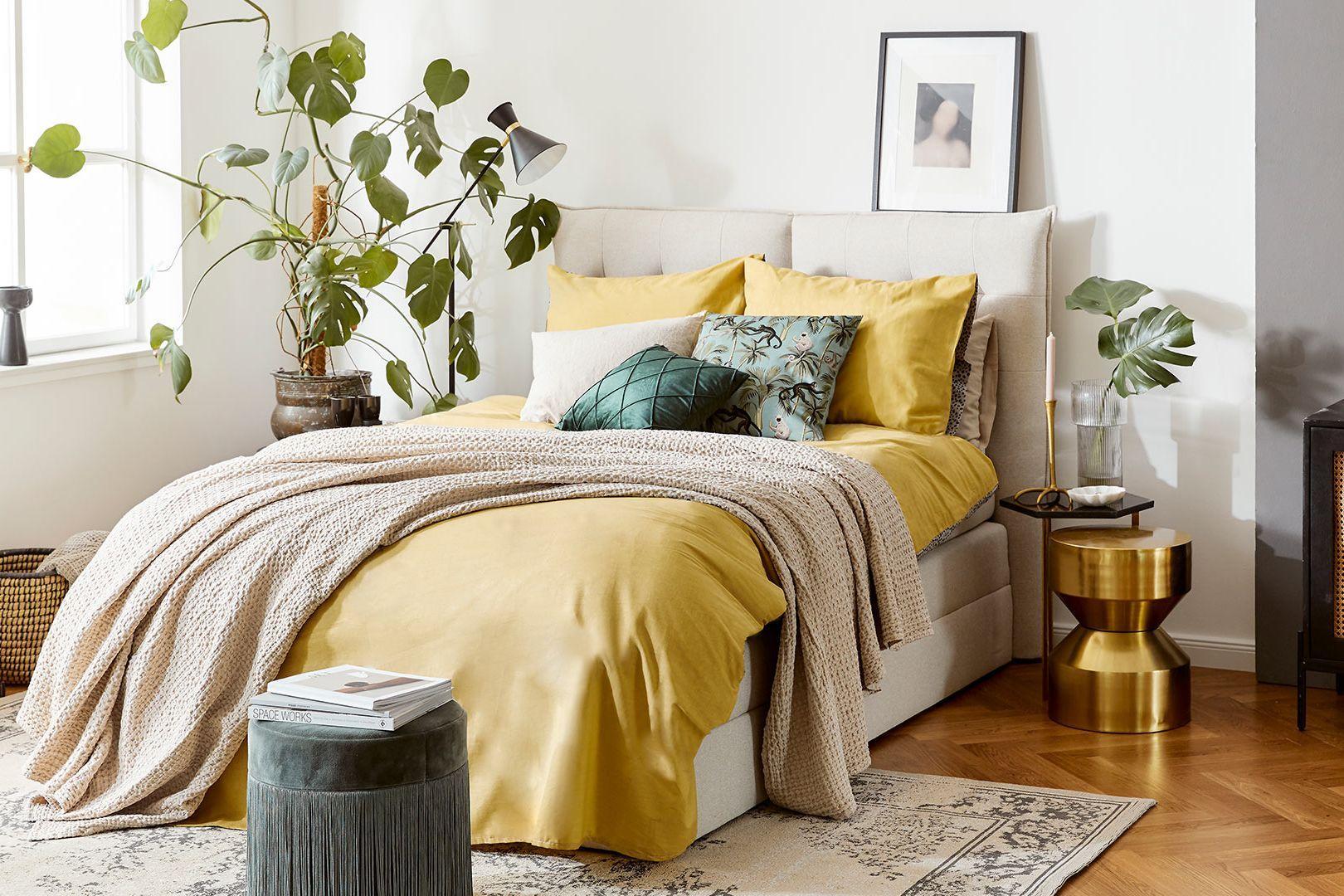 Sypialnia w złocie