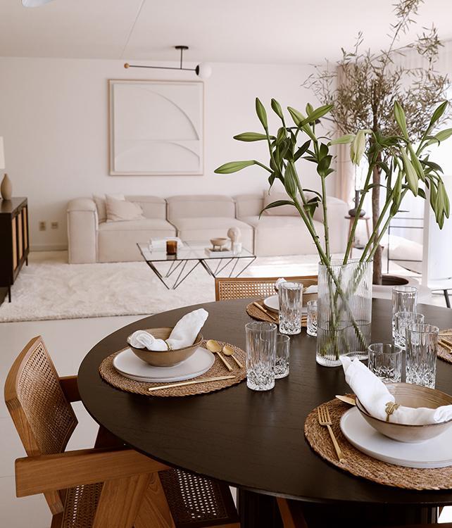 Obývačka a jedáleň