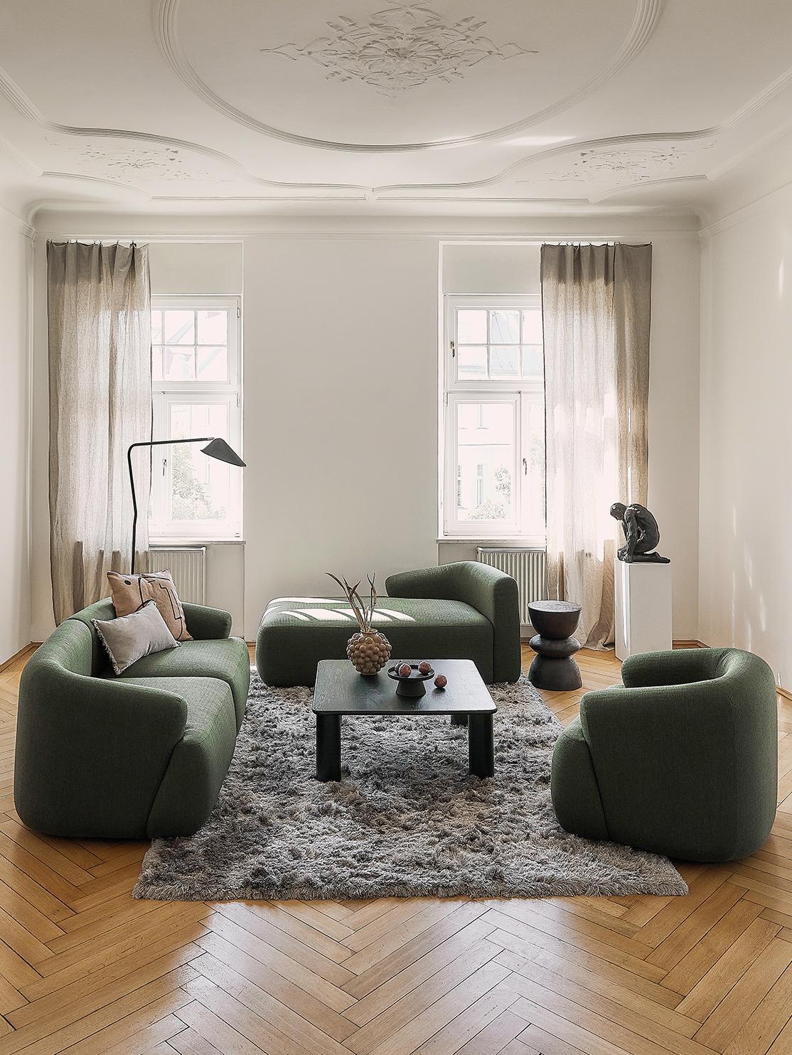 Canapé vert tendance