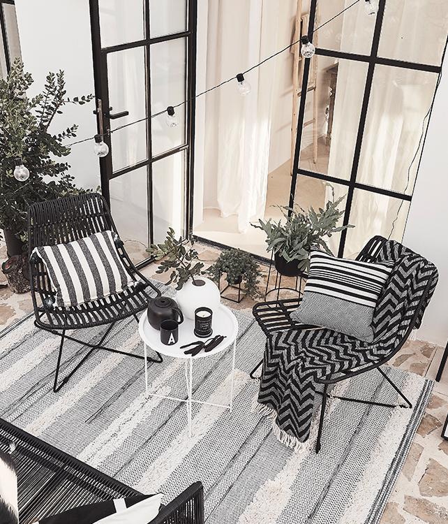 Outdoor in zwart/wit