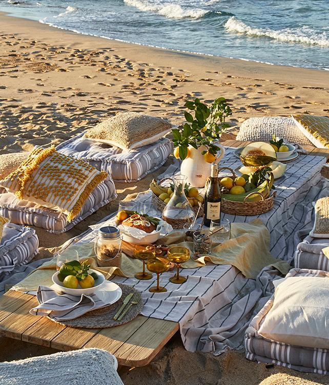 Picknick op het strand