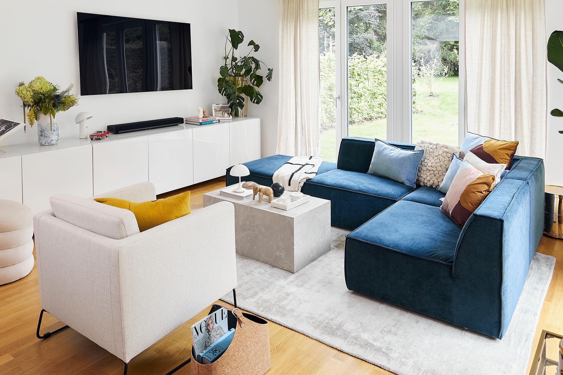 Modern blauw