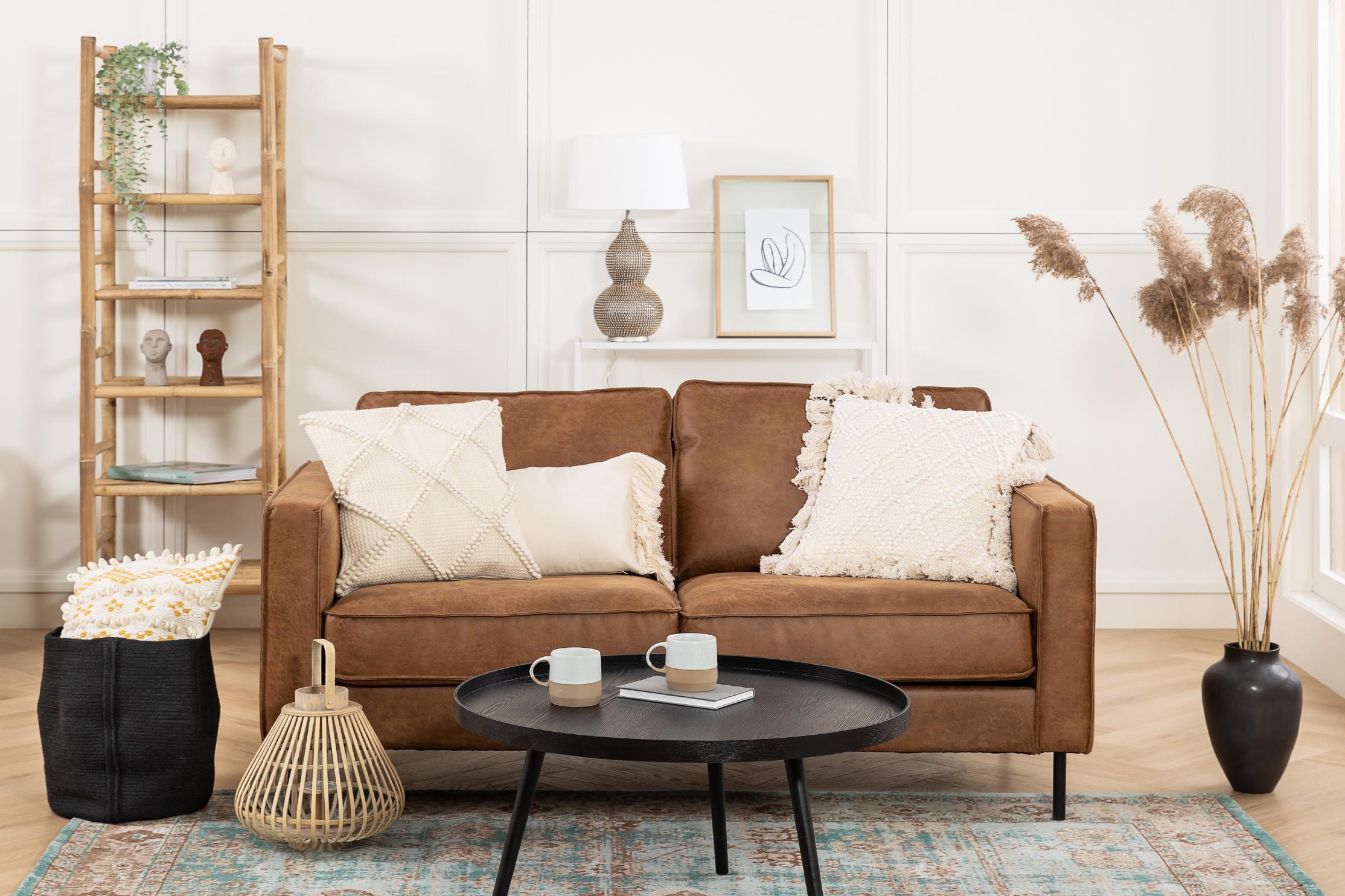 Canapé en cuir boho