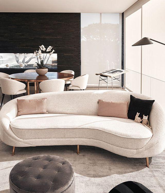Un sofá sofisticado